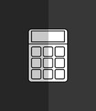 Calculator maths finance. Calculator device icon vector illustration graphic design Royalty Free Stock Photography