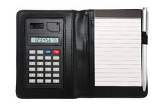 Calculator Memo Pad Royalty Free Stock Images