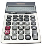Calculator met één miljoen winst Royalty-vrije Stock Afbeeldingen