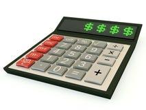 Calculator met een dollar Stock Foto's