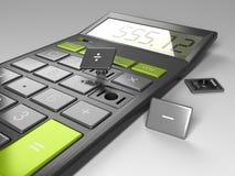 Calculator met Gebroken Knopen stock illustratie