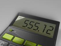 Calculator met Gebroken Knopen royalty-vrije illustratie