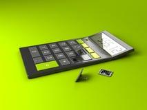 Calculator met Gebroken Knopen vector illustratie