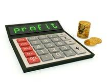 Calculator met winsttekst Royalty-vrije Stock Foto's