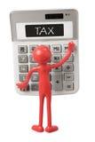 Calculator and Miniature Figure Royalty Free Stock Photos