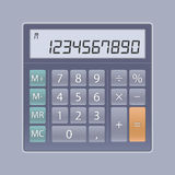 Calculator. This minimalist illustration of a calculator is ideal for usage for user interface or as a web-element of any site. You can easy change the color of royalty free stock image
