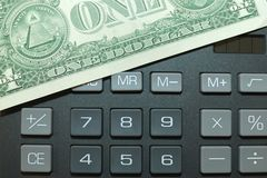 Calculator and momey Royalty Free Stock Photo