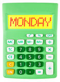Calculator with MONDAY on display isolated Royalty Free Stock Photos