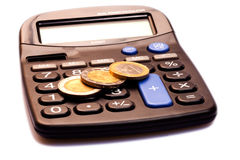 Calculator With Money Royalty Free Stock Photo