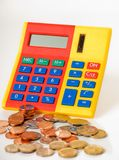 Calculator and money Stock Image