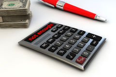 Calculator and money Royalty Free Stock Photography