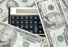 Calculator and money Stock Photos