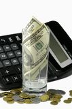 Calculator and the money Stock Images