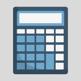 Calculator of money concept. Calculator icon. Money financial item commerce market and payment theme. Colorful design. Vector illustration Stock Images