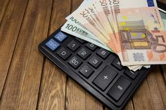 Calculator money euro Stock Images