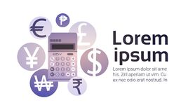 Calculator Money Exchange Finance Banking Currency Stock Photos