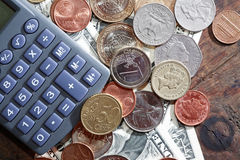 Calculator On Money Royalty Free Stock Images