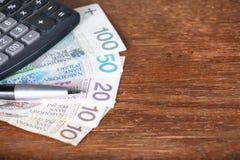 Calculator money statistics papers pen business concept Stock Image