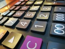 Calculator for new seeing moments nice one royalty free stock images