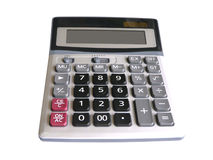 Calculator. A normal use calculator on white background Royalty Free Stock Images