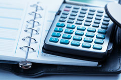 Calculator and notebook Royalty Free Stock Photography