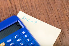 Calculator and notebook close-up Royalty Free Stock Photo