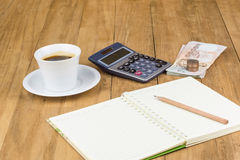 Calculator and notebook Royalty Free Stock Image