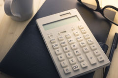 Calculator and Notebook Stock Photography