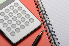 Calculator and notepad Royalty Free Stock Photography