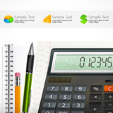 Calculator & notepad Royalty Free Stock Images