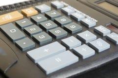 Calculator. Number closeup-up, data, detail Stock Image