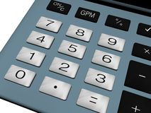 Calculator number pad Royalty Free Stock Images