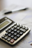 Calculator and numbers Royalty Free Stock Photography