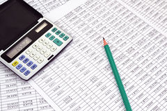 Calculator with numbers Royalty Free Stock Photo