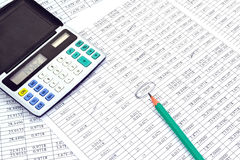 Calculator with numbers Royalty Free Stock Images