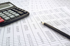 Calculator with numbers Stock Image