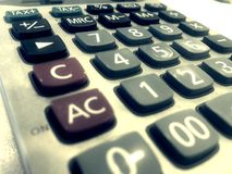 Calculator Numbers mathemathic Royalty Free Stock Photo