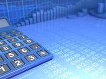 Calculator. Numbers and stock market Stock Images