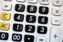 Calculator numeric keypad Stock Images