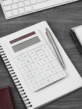Calculator on a office desk Stock Image