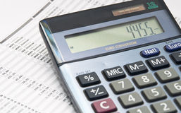 Free Calculator On Paper Stock Photography - 22416772