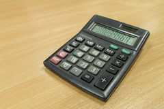 Calculator op bureaulijst Royalty-vrije Stock Fotografie