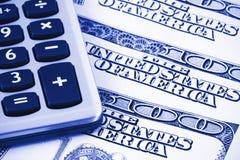 Calculator op de dollars van de V.S. Royalty-vrije Stock Foto