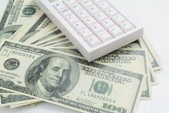 Calculator op dollar Royalty-vrije Stock Afbeeldingen