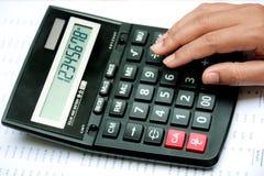Calculator op hand Royalty-vrije Stock Afbeelding