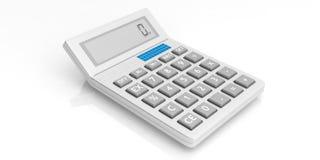 Calculator op witte achtergrond 3D Illustratie Stock Foto