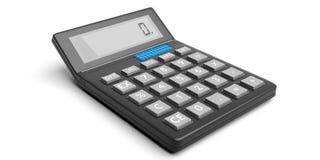 Calculator op witte achtergrond 3D Illustratie Royalty-vrije Stock Fotografie
