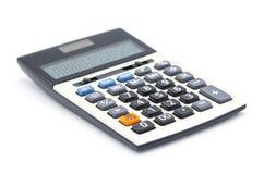 Calculator op witte achtergrond, Dichte omhooggaande knoopcalculator wordt geïsoleerd die royalty-vrije stock afbeeldingen