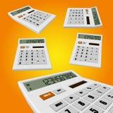 Calculator on an orange background Stock Photo