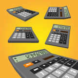 Calculator on an orange background. White calculator on an orange background. vector illustrations for for your business Royalty Free Stock Photography